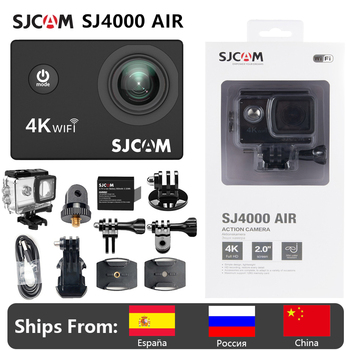 "4K Action Camera SJCAM SJ4000 AIR Full HD Allwinner 4K 30FPS WIFI 2.0"" Screen Mini Helmet Waterproof Sports DV Camera 1"