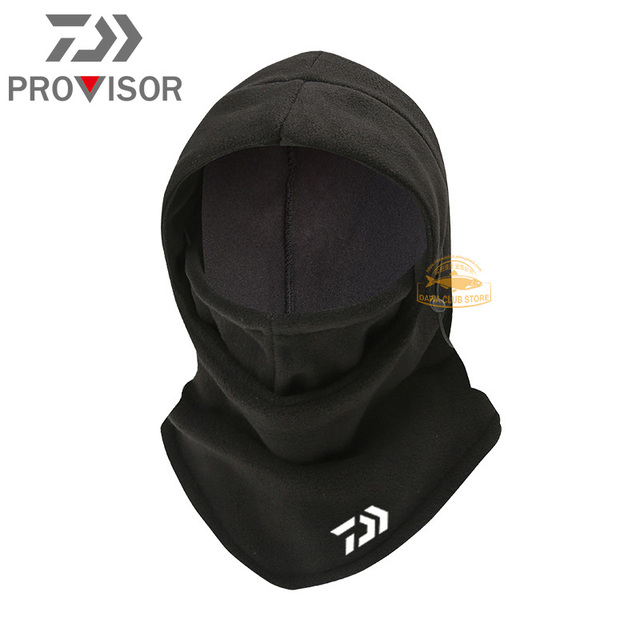 Winter DAIWA Fishing Mask Men's Outdoor Warm and Windproof Cycling Headgear Polar Fleece Face Protection Bib Fishing Hat 2