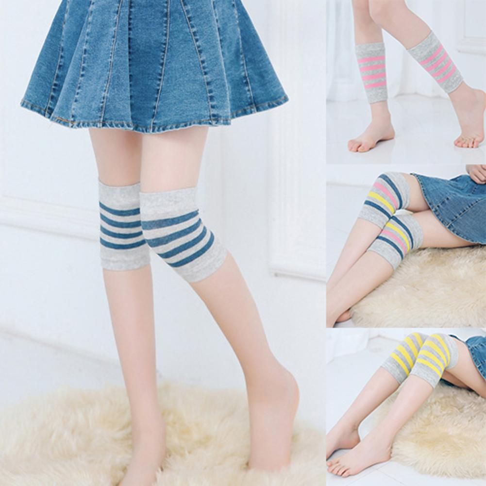 1 Pair Bird Stripe Children Baby Crawling Skating Warm Knee Sleeve Protector