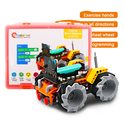 Умный робот автомобильный комплект Xiaomai для микро: бит робототехники обучающий комплект, поддержка Makecode программирования, приложение и инф...