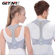 Getinfit ajustável postura corrector volta ombro endireitar cinta ortopédica cinto para clavícula coluna apoio para as costas alívio da dor