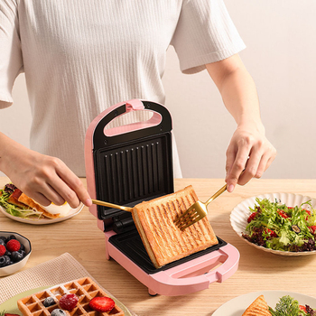 Sandwich Maker Breakfast Toaster Machine Home Light Food Waffle Maker Multi-Function Heating Toast Pressure Toaster high quality 2 slices toaster stainless steel made automatic bake fast heating bread toaster household breakfast maker