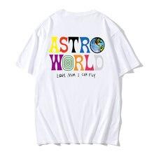 T-shirt Hip Hop pour hommes et femmes, Nouvelle mode, Travis Scotts, ASTROWORLD, Harajuku