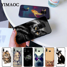cat kitty cute Silicone Case for Samsung A3 A5 A10S A30S A50S A6 Plus 2018 A7 A8 A9 A10 A30 A40 A50 A60 A70 J6