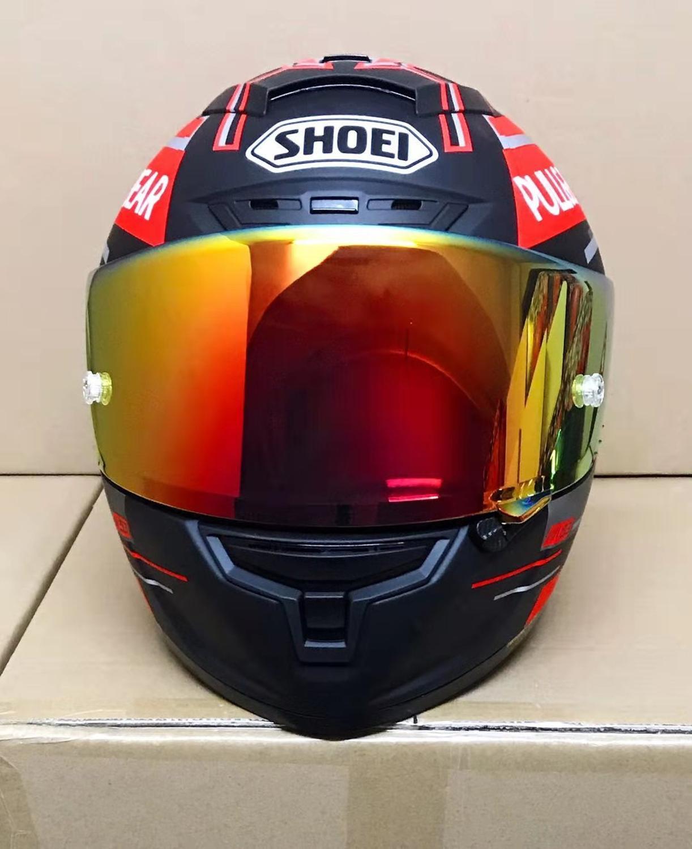 New Sho E  I93 Pull BEAR  Motor Racing  Motorcycle Hat Full Face Helmet Safe Racing Summer Helmt X14  93 DULL Model Helmet