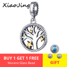 Hot sale 100% 925 Sterling Silver Tree of Life Pendant Charm fit Pandora Bracelets Necklaces DIY Jewelry Making for Women gift недорого
