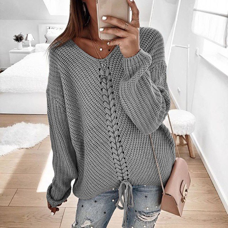 Plus Size Women Pullover Sweater Spring Autumn Jumper Women Tops Clothes Casual Loose Fall Knitted Sweaters Ladies 2019 DR897