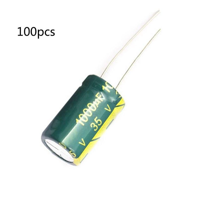 Universe 35V 1000UF 1000UF 35V 1000uf35v 35v1000uf  Power Supply Special High-frequency Crystal 100pcs Size:10*20MM Whosale