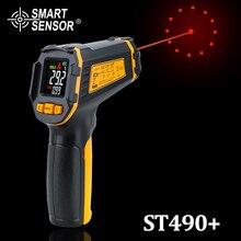 דיגיטלי ללא מגע אינפרא אדום מדחום IR אקווריום צבע תצוגת LCD לייזר אקדח Pyrometer גבוהה דיוק טמפרטורת Tester