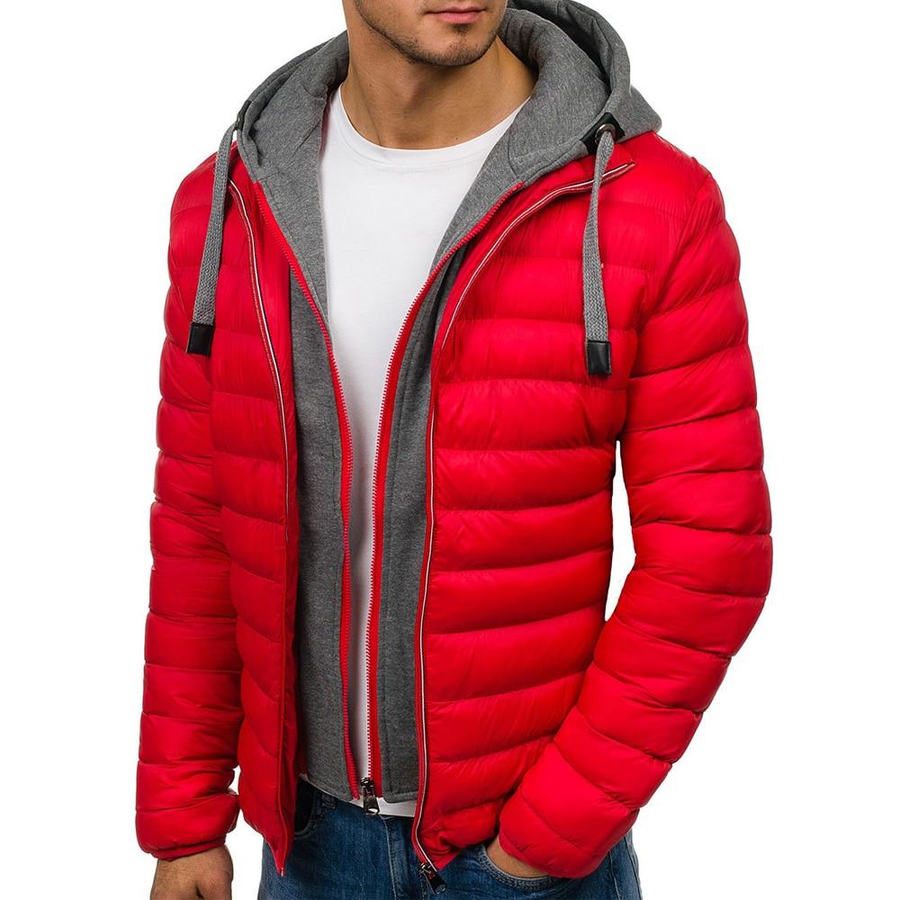 Парка мужская зимняя с хлопковой подкладкой, Повседневная Уличная модная теплая куртка с капюшоном, пуховик, верхняя одежда
