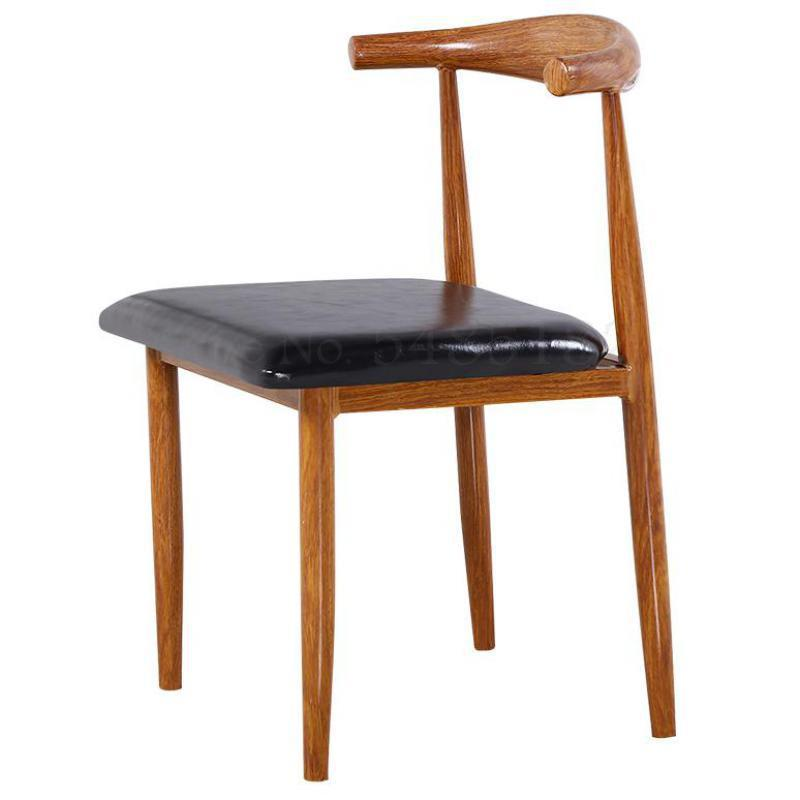 Imitation Solid Wood Iron Horn Chair Stool Coffee Restaurant Table And Chair Simple Dining Chair Tea Dessert Table And Chair Com
