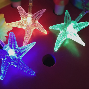 QYJSD Creative LED Starfish Light Strings Garlands for 2020 New Year Christmas Tree Decoration Holiday Party Outside Ornaments image