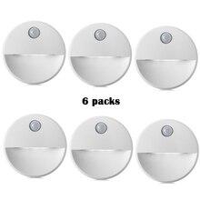 PIR Motion Sensor LED Novelty lighting Sensitive Wall Ceiling Night light Cabinet lamp For Hallway Pathway 2led Novelty lighting