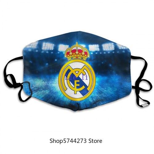 Реал Мадрид Анти-пыль маска для лица с PM2.5 защитный фильтр Тканевая маска для взрослых и детей, способа изготовленный на заказ маска многора...