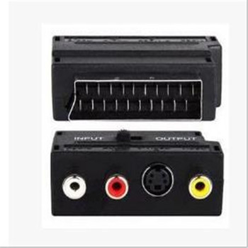 100p RGB SCART Plug Male to 3 RCA Female A/V Adaptor Converter for TV DVD VCRsVOSO ; SCART adapter head adapter plug connector;