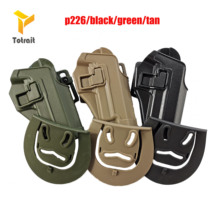 Tactical Belt Holster Right Hand CQC Type Gun Holster for SIG SAUER P226 black/Green/Tan цены