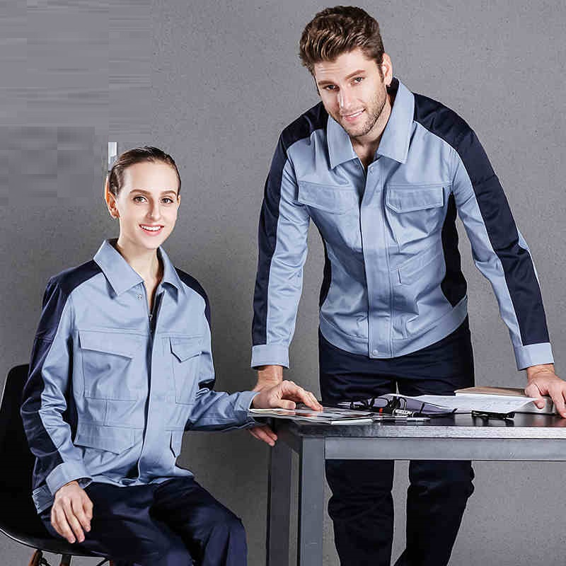 Autumn Winter Anti-static Work Clothes Set Labor Mechanical Workshop Auto Repair Electironic Engineering Coveralls Welding Suits