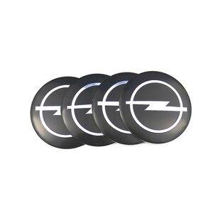 Voiture style 4 pièces roue moyeu central autocollants 56.5mm emblèmes pour Opel Astra H G J Corsa Insignia Antara Meriva Zafira