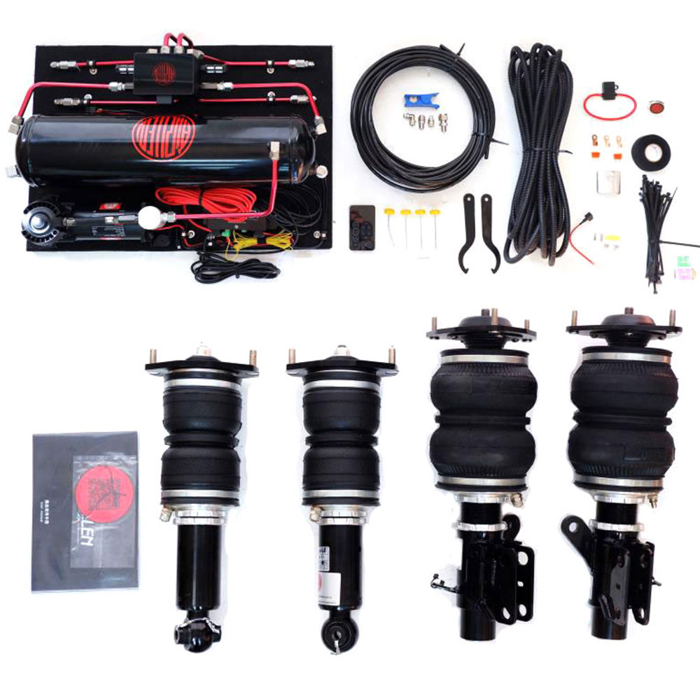 Universale Premium Air Suspension Kit Completo con Il Sistema di Controllo, Airbag Shock Un Battente, Pompa di Aria Pneumatico Sospensione Modifica