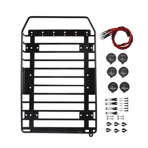 Image 3 - RC Roof Rack Luggage Carrier with LED Light for Axial SCX10 SCX10 II D90 Redcat GEN8 Traxxas TRX4 tamiya CC01 1/10 RC Crawler