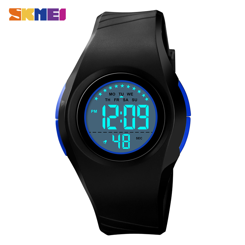 SKMEI Children LED Digital Watch Luminous Alarm Kids Sports Watches 50M Waterproof Boys Girls Wristwatch Montre Pour Enfants