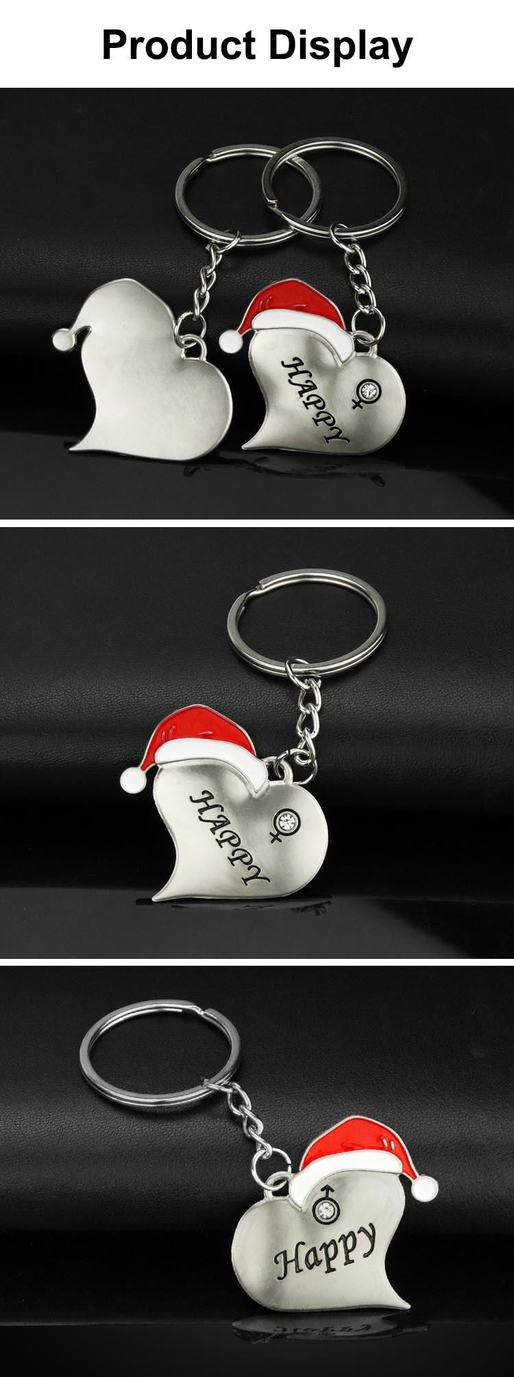 1 Pair Christmas Couple Key Chains  (7)
