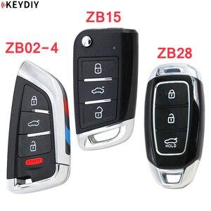 Image 1 - KEYDIY 유니버설 스마트 키 ZB02 4 + ZB15 + ZB28 KD X2 KD900 미니 KD 자동차 키 원격 교체 적합 2000 개 이상의 모델