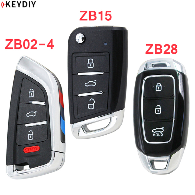 KEYDIY 유니버설 스마트 키 ZB02 4 + ZB15 + ZB28 KD X2 KD900 미니 KD 자동차 키 원격 교체 적합 2000 개 이상의 모델