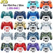 Контроллер для PS4 Slim Pro JDS 040, корпус из твердого пластика с передней и задней панелью, чехол с кнопкой, комплект модов для Dualshock 4 Pro Gen 2