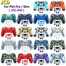 Pour PS4 Slim Pro contrôleur JDS 040 JDM 040 avant arrière boîtier en plastique dur coque bouton Mod Kit pour Dualshock 4 Pro Gen 2