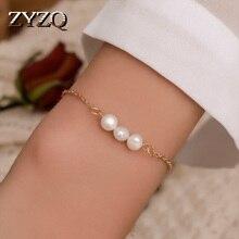ZYZQ شخصية الكلاسيكية أساور رائعة مع جودة عالية مقلد اللؤلؤ الزفاف المشاركة مجوهرات بالجملة الكثير والسائبة