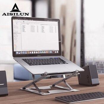 Adjustable Laptop Stand Portable Support Notebook Stand For Macbook Pro Computer Cooling Bracket Riser Laptop Holder desk riser
