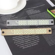 15*2cm powiadomienie o numerze telefonu tymczasowe parkowanie samochodu karty frajerów świetlisty samochód naklejki akcesoria do wnętrz