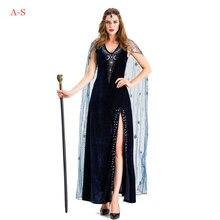 Halloween Adult Female Cleopatra Pharaoh Costume Queen Queen Black Witch Star Greek Goddess