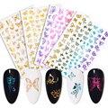 1 лист 3D наклеек для ногтей в виде бабочки Красочные Переводные красивые наклейки для ногтей Аксессуары для дизайна ногтей «сделай сам»
