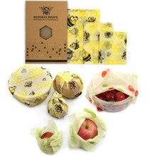 Многоразовый пчелиный воск шарф сумка для хранения крышка растягивается крышка Джунгли вечерние пчелиный воск обертывание
