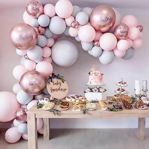 Воздушные шары макарун 169 шт., воздушные шары-гирлянды, Арка из розового золота, конфетти, свадебные украшения на день рождения, вечерние укр...