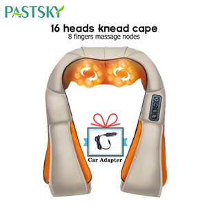 Image 5 - U Shape Electrical Shiatsu Massager Shawl Fast Shipping Neck Shoulder Finger Massage Infrared 4D kneading Car Home Health Care
