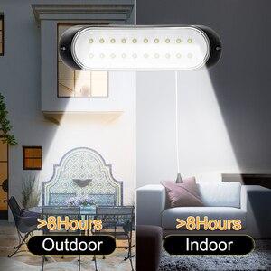 Image 3 - Najnowszy 20 led lampa słoneczna oddzielny Panel słoneczny i światło z linią wodoodporne oświetlenie Pull Switch dostępne na zewnątrz lub wewnątrz