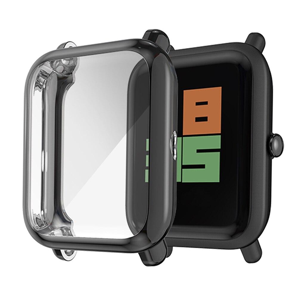 TPU Protective Case For AMAZFIT Bip Lite Smart Watch Anti-Scratch Watch Cover Accessories