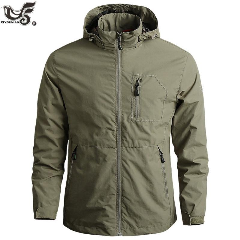 Men's Sportswear Windbreaker Military Thin Jackets For Men Casual Streetwear Breathable Hooded Coats Brand Clothing Size M~6XL