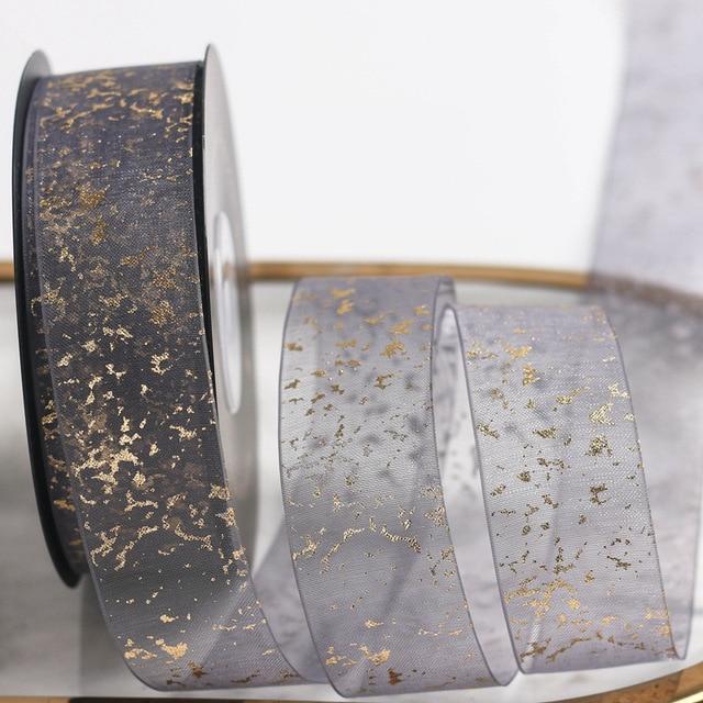 Фото 20 ярдов/партия декоративная лента из органзы 25 мм цена