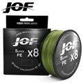 JOF Super PE 500 м PE леска 8 нитей обратная спиральная технология мультифиламентная прочная леска для ловли карпа 15 20 30 40 60 80 100LB