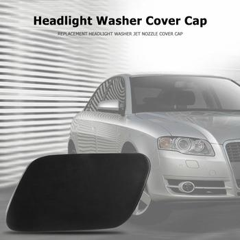 Headlight Washer Cover Replacement for Audi A4 B7 2005-2009 Automobiles Accessories ABS Jet Nozzle Durable Black Cap image