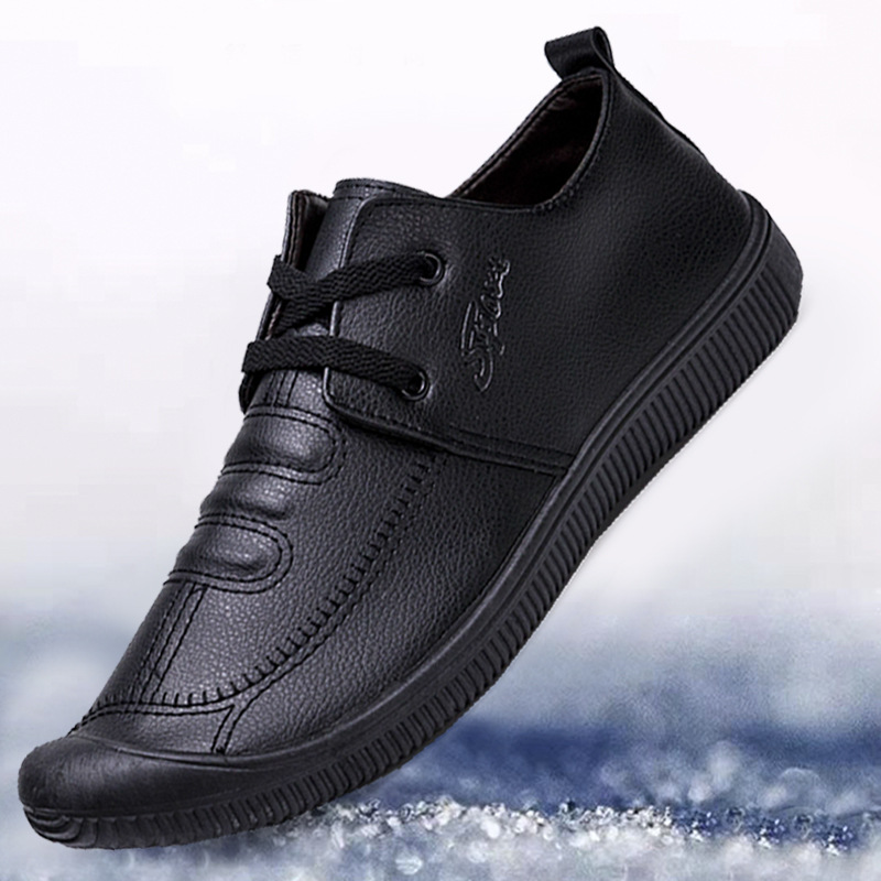 Genuine Leather Men's Casual Shoes Luxury Brand Mens Loafers Flats Breathable Slip On Black Driving Shoes Plus Size 39-44