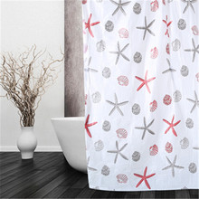 Shower-Curtain Bathroom Waterproof with 10-Hooks 12pcs PEVA Random-Color