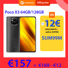 Version mondiale POCO X3 NFC 64GB 128GB ROM 6GB Smartphone Snapdragon 732G 64MP Quad caméra 6.67