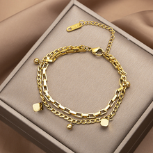 316L Stainless Steel New Fashion Fine Jewelry Gold Color Hip-hop Multi-element Thick
