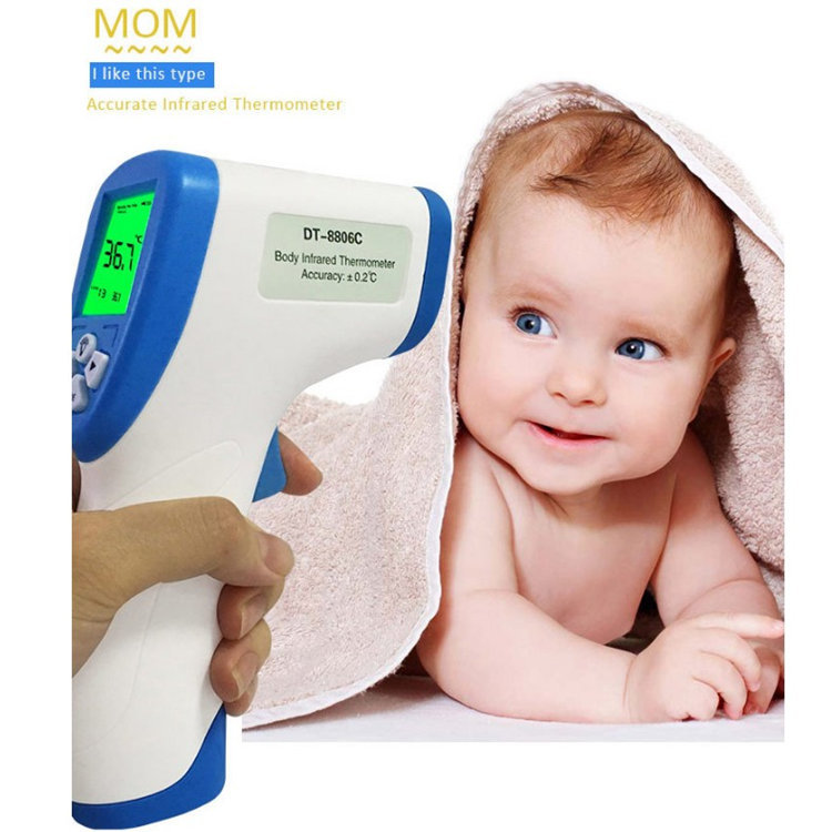 Digital Baby Thermometer Body Forehead Non-contact Infrared Thermometer For Adult Children Thermometer Infrared Temperature Gun