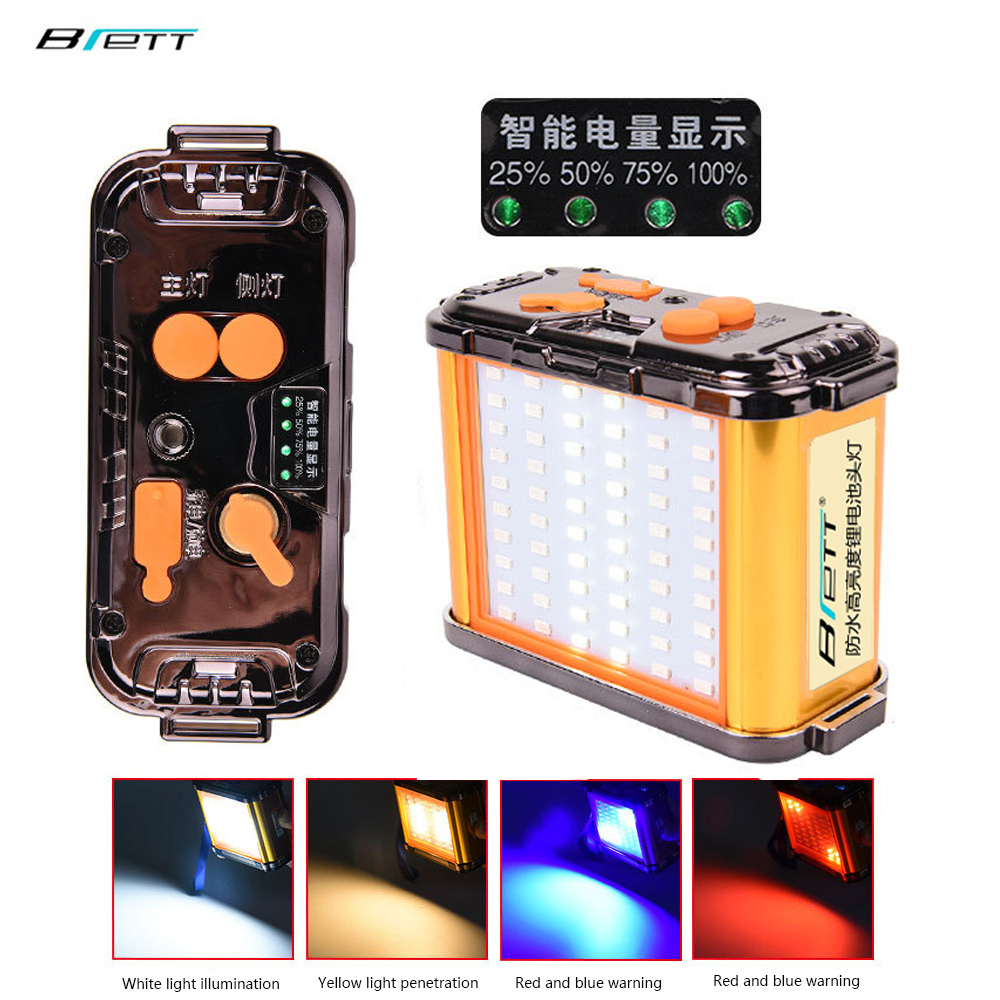 Flashlight Led 18650 Battery Pack White Yellow Light Red Blue Flash Mobile Phone Charging Function Headlight Battery Pack